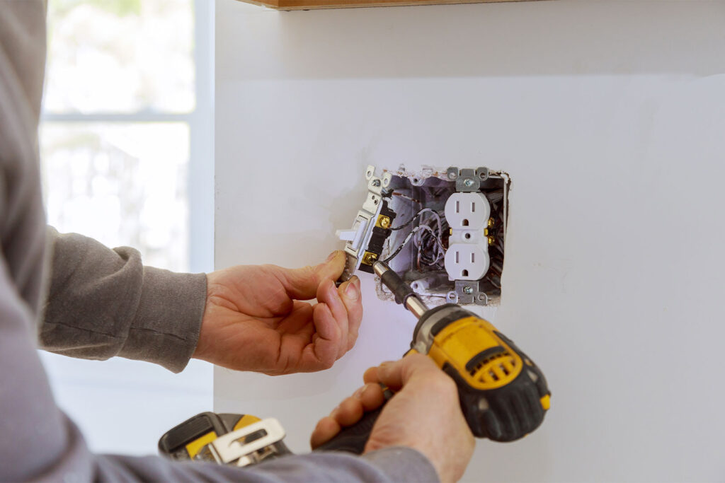 Installing Electrical Wirings in a Kitchen